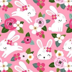 Floral Bunny / Pink