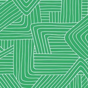 Little Maze stripes St Patrick's Day minimal Scandinavian grid style trend abstract geometric print monochrome bright green