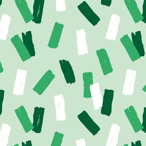 St Patrick's Day confetti Irish celebrations minimal raw brush strokes green party mint white