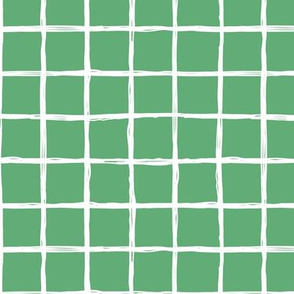 Minimal Irish green grid geometric maze St Patrick's Day mint green