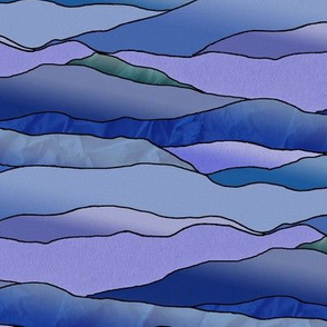 Another Cold Night in the Desert Leadlight Landscape - Extra Large Scale