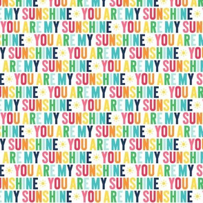 you are my sunshine XSM rainbow on navy UPPERcase