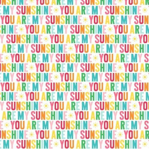 you are my sunshine XSM rainbow UPPERcase