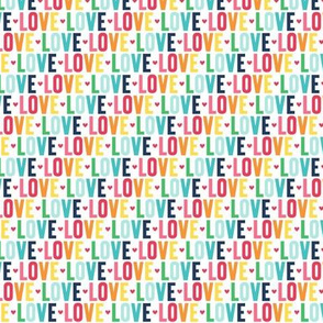 love XSM rainbow with navy UPPERcase