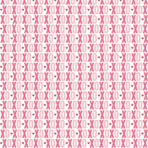 xoxo XSM pink + red UPPERcase