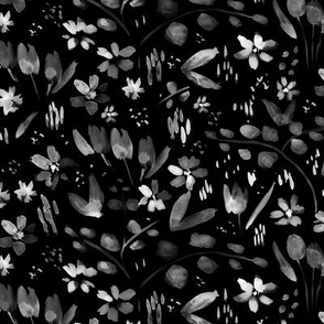 Midnight meadow - wild flowers p256