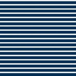 Nautical Breton Stripe - White and Navy