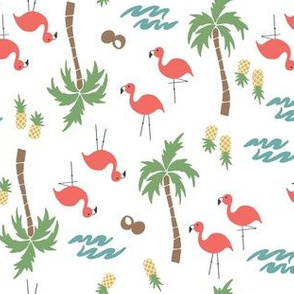 Summer Vibes Flamingos & Pineapples