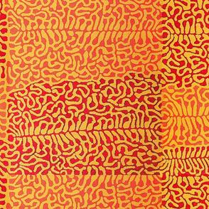 Tribal Matisse - Orange - Large Scale