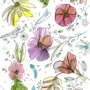 free abstract florals pattern by MayaCorona