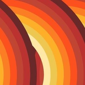 Retro Records in Orange Ombre
