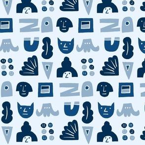 blue hieroglyphics