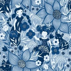 Blue-monochrome
