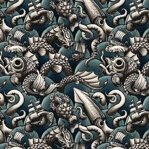 sea monsters (blue sea)