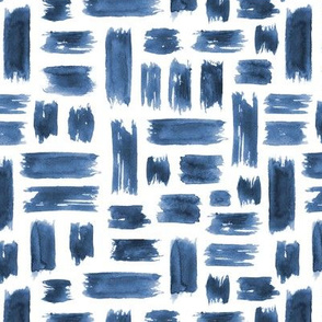 Denim blue watercolor brushstrokes ★ painted grungy tonal design for modern home decor, bedding, nursery