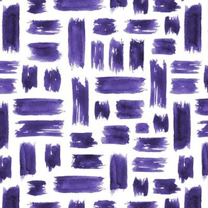 Amethyst brush strokes ★ watercolor painted criss cross brushstrokes for modern purple home decor, bedding, nursery