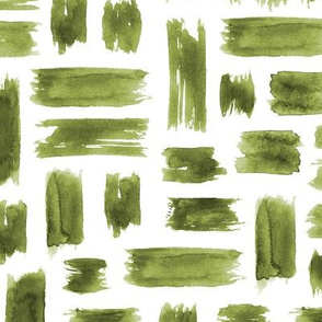 Olive green watercolor brushstrokes ★ khaki painted grungy tonal strokes for modern neutral home decor, bedding, nursery