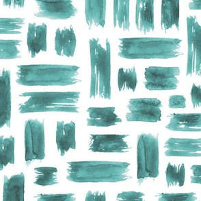 Watercolor emerald brushstrokes ★ criss cross saturated tonal pattern for modern home decor