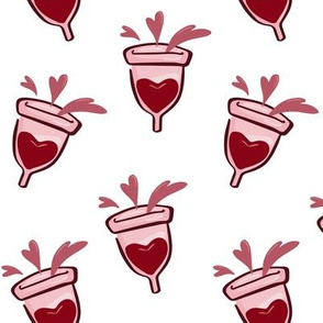 Menstrual Cup Love Hearts