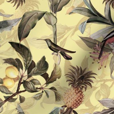 Vintage Tropical Bird SkortSkirtShorts