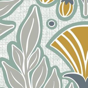 La Floraison Eucalyptus Art Nouveau Floral Jumbo Scale