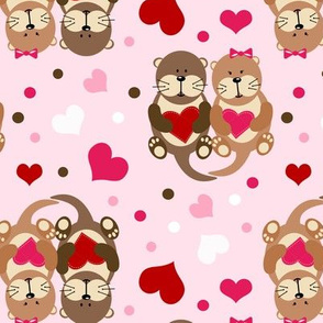 Otters Valentine's Day