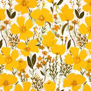 yellow roaming wildflowers