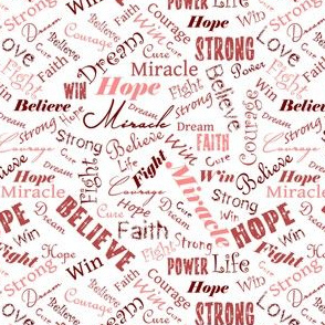 Custom Reds - Positive Words for a Cure - Small Scale