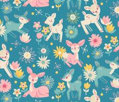 Darling Deer and Daisies (medium size)