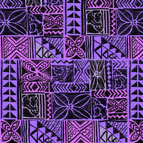 Native Bark Cloth-purple & fuscia