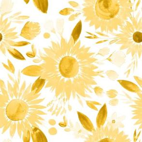 mustard sunflowers