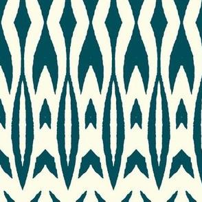Kifahari Stripe - deep teal