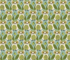 kitschy owls (avocado)