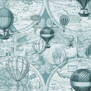Teal Hot Air Balloons