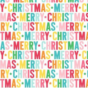 merry christmas rainbow UPPERcase