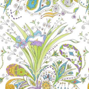 Bohemian Iris Paisley