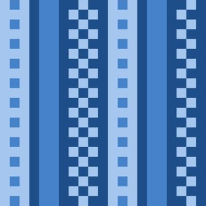Jazzy Checked Stripes in 2020 Classic Blue