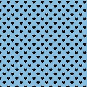 Heartshaped Blue Black