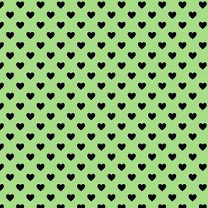 Heartshaped Green Black