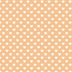 HeartShaped Dots Orange