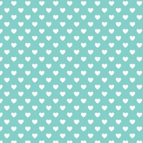 HeartShaped Dots Teal
