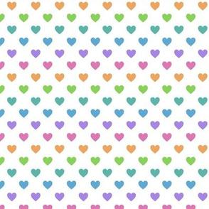 Heartshaped White Rainbow