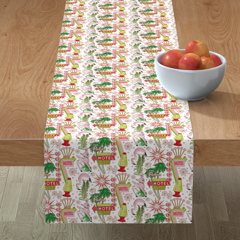 Minorca Table Runner featuring MOTEL KITSCH by julistyle