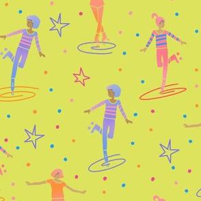 Neon roller skate girls