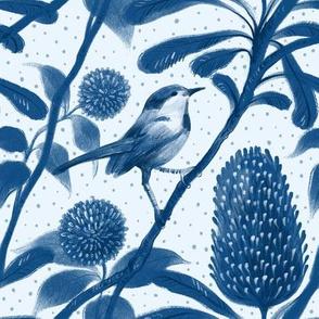 small scale / little blue bird