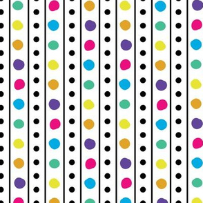 Butterfly Party Stripe- Multidots
