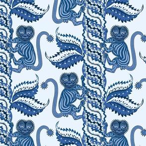antique blue jungle