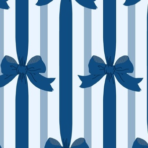 classic blue ribbons and bows - limited palette