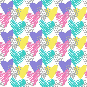 Spotted heart collage- pastel