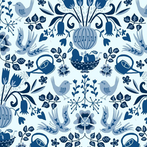 gardening flowers Pantone blue 2020